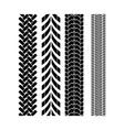 tire track brush seamless border vector image
