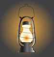Vintage lantern western decor vector image