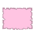 Parchment old paper Empty banner pink vector image