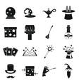 Magic icons set simple style vector image