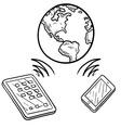 doodle global communication vector image