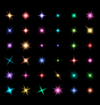 Transparent Glowing Light Effect Stars vector image