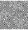 Eclectic fabric seamless pattern Geometric vector image