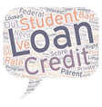 Bad Credit Student Loan Can Be A Godsend text vector image