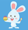 bunny painting egg easter theme vector image