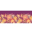Fall flowers and leaves horizontal seamless vector image vector image