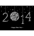 2014 Happy New Year greeting card vector image