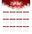 Calendar 2016 New Year vector image vector image
