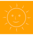 The sun on an orange background vector image vector image