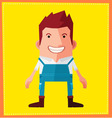 flat style male avatar character design vector image