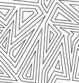 monochrome labyrinth seamless pattern vector image