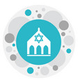 of faith symbol on synagogue vector image