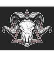 Ram skull with a geometric symbol vector image