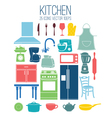 set icon of kitchen vector image