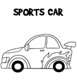 Sport car of vector image