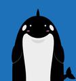 cute big fat killer whale orca vector image
