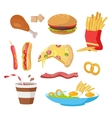 Tasty Fast Food Set vector image