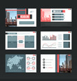 urban presentation templates set vector image