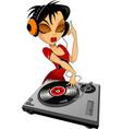 music in headphones vector image vector image