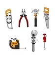 Set of cartoon DIY hand tools vector image vector image