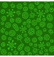 Bacteria Virus Microbe Seamless Pattern vector image
