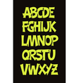 Cartoon comic graffiti font alphabet vector image