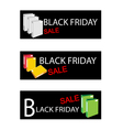 Office Folder on Black Friday Sale Banners vector image