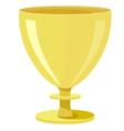 golden bowl vector image vector image