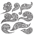 Set of hand drawn doodle sea waves vector image