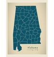Alabama county map vector image