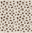 coffee pattern light colors vector image