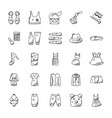 fashion doodle icons set vector image