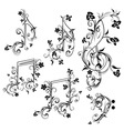 Floral Music Notes vector image