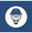 helmet hockey winter sport equipment vector image