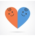 image of smiling baby boy and girl vector image