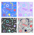memphis pattern set from geometry backdrop dots vector image