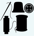 Set of sewing vector image