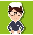 hotel employees avatar icon vector image
