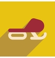Flat web icon with long shadow Snowmobile vector image