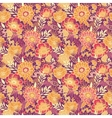 Fall flowers and leaves seamless pattern vector image vector image