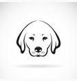 labrador dog head on white background pet animal vector image vector image