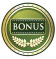 Bonus Green Label vector image