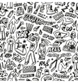 raphip hop graffiti - seamless background vector image