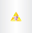 yellow purple triangle business logo vector image