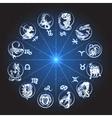 Zodiac Circle Horoscope vector image