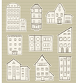 set of houses doodle vector image vector image