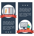 Flat infographic education banners vector image
