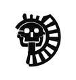 Skull the god of death of Aztecs icon vector image