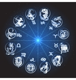 Zodiac Circle Horoscope vector image