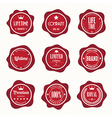 Set of retro vintage badges and labels eps10 vector image vector image